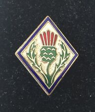 Vintage Girl Guide Scottish Shire County Pin Badge By Fattorini