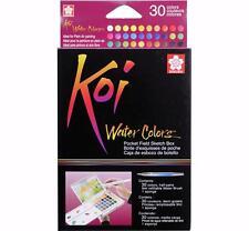 Sakura Koi Watercolor - Pocket Field Sketch Box - 30 Half Pan Transparent Colors