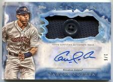 Carlos Correa 2017 Topps Inception Game Used Jersey Button Auto 1/6 Ebay 1/1 Wow
