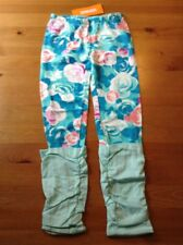 Bright Blue Roses Girls Pants Bottoms Gymboree Size 5T NWT