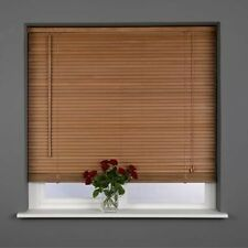 Sunflex 25mm Slat Real Wood Venetian blind 75cm wide x 160cm OAK Stain Finish