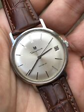 Vintage Lip Dauphine Steel Case Mens Watch 34mm Cal. R.017 French Made Hand-wind