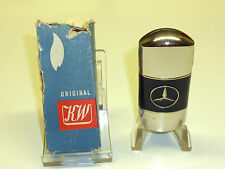 KW (KARL WIEDEN) LIGHTER W. MERCEDES LOGO - BLACK LACQUER - OVP - 1930 - GERMANY