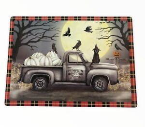 Haunted Farm Truck Pirate Placemats Set of 4 Vinyl Foam Back Black Cat Spooky