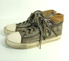 TAMARIS Sneaker Leder Metallic Silber Gr. EUR 41 (SR12)