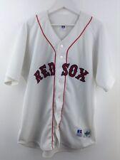 Da Uomo Russell Athletic Red Sox BIANCO-ROSSO Jersey Taglia 48 STOCK No.G54
