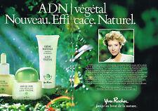 PUBLICITE ADVERTISING 054  1986  YVES ROCHER cosmétiques  ADN VEGETAL ( 2 pag)