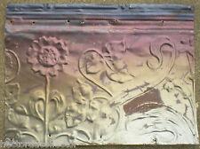 SALE !! Antique Ceiling Tin Tile Victorian Flowers Acanthus Vine Shabby Chic