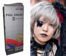 Teinture Coloration Cheveux Permanente Punk Goth Emo Cosplay cendre gris argenté