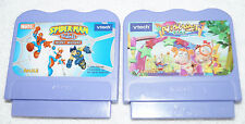 2 Vtech Vsmile cartridge LOT SPIDERMAN secret Mission & Alphabet Park Game set