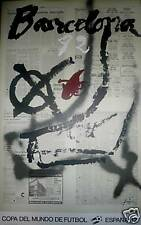 Antoni Tapies Affiche Lithographie Mondial Football 1982 art abstrait sport