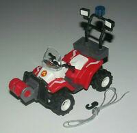 Playmobil Accessoire Décor Quad des Pompiers à Friction + Treuille & Crochet NEW