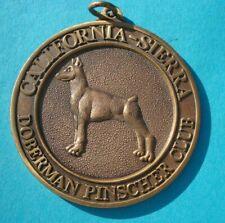 "Vintage Doberman Pinscher Club Of America 2"" Medallion Pendant California Sierra"