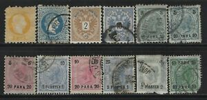 AUSTRIA - 1867-1900 OFFICES IN TURKISH EMPIRE USED & MINT STAMPS