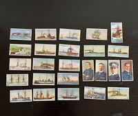 Lot of 25 c. 1930s Lloyd Cigarettes German Flottenbilder Fleet/Ships/Navy Cards