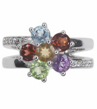 Natural Round Amethyst Sterling Silver Fine Rings