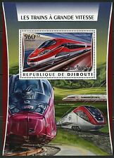 Djibouti 2016 High Speed Trains Souvenir Sheet Mint Never Hinged