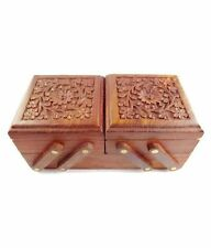 Wooden Decorative Handcrafted Sliding Flower Multipurpose Jewellery Storage Box