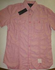 BNWT - MENS SIZE XS EXTRA SMALL RED MILEAGE COLLARED SHIRT TOP NEW