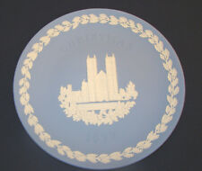 Wedgwood Blue Jasperware Plate Westminster Abbey Christmas 1977 Mint Condition@9