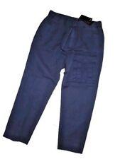 ARMANI EXCHANGE A / X men's LINEN Navy DRAWSTRING Two tone PANTS Size 31