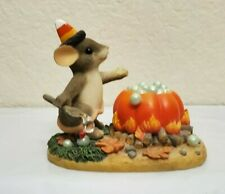Fitz Floyd Charming Tails Bubbly Brew Mouse Halloween Pumpkin Candy Corn