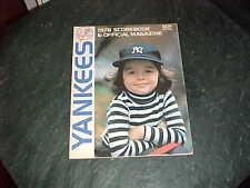 1978 Baltimore Orioles v New York Yankees Baseball Program