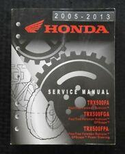 2005-2013 HONDA 500 TRX500 FA FGA FPA FOURTRAX RUBICON FORMAN ATV SERVICE MANUAL