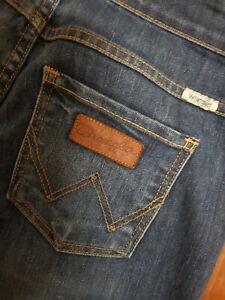 Wrangler Jeans Size 8 Slim Dark  Blue Denim