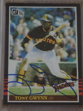 Tony Gwynn Signed 1985 Donruss Card #63 PSA DNA Padres HOF
