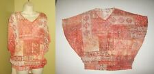 CHICOS 2 Large L Sheer PONCHO Style Embellished TOP