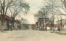New Hampshire, NH, West Lebanon, Main Street Early Postcard