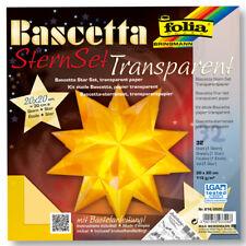 folia Bascetta Stern - gelb Transp. Ø 20 Cm