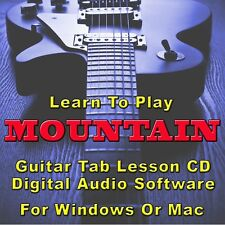 MOUNTAIN Guitar Tab Lesson CD Software - 4 Songs