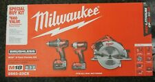 Milwaukee M18 3-Tool Combo Kit 2893-23Cx Set Driver Saw 4.0Ah New Sealed In Box