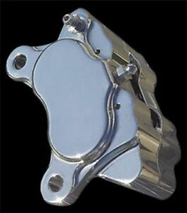 Polished Ultima 4 Piston Caliper w/Pads for Harley Models & Custom Applications