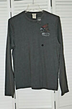 Abercrombie&Fitch Vintage Noonmark Mens Long-Sleeve Varsity Tee Shirt RARE NEW L