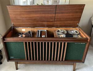MCM 1965 National Panasonic SE-9000-HD Stereo Console Danish Modern Eames, Works