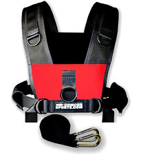 """Sled Harness - Adults to 50"""" Girth - Padded Shoulders - Red"""