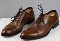 Antonio Maurizi Mens Leather Brown Cap Toe Shoes Size 43 /  10 US