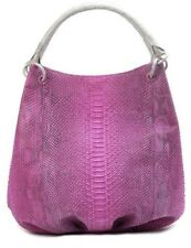 $3900 NEW Nancy Gonzalez Matte Pink Grey PYTHON CROCODILE Bucket Tote BAG