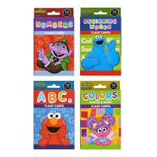 4 Sesame Street Flash Cards Early Learning Colors Shapes ABCs Numbers Education