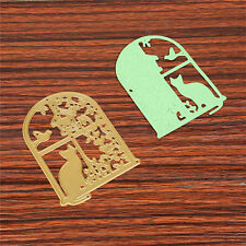 DIY Gold Metal Window Cutting Dies Stencil DIY Scrapbooking Diary Template Decor