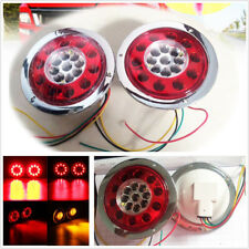 2 X 12/24V 4.3'' 19LED Car Off-Road Brake Stop Turn Tail Lights Signal Universal