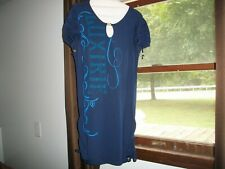 womens dress LUXIRIE bling navy blue size large