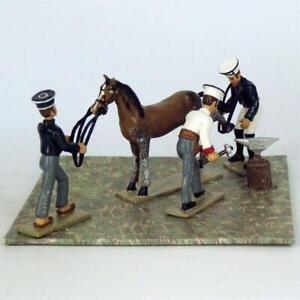 Lucotte Napoleonic Bivouac Horse Shoeing mini diorama #8082-050 - Mint in Box