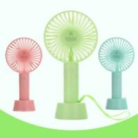 Rechargeable USB Fan Air Cooler Mini Portable Hand Battery Desk Held Fan O4X5