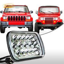 1PCS Osram 5x7'' 7x6'' LED Headlight Hi-Lo Beam Halo DRL For Jeep Cherokee XJ YJ