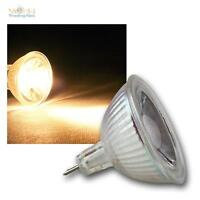5 x MR16 Lámpara LED, 5W COB blanco cálido 400lm Focos, Bombillas Spot 12V