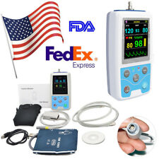 Portable Patient Monitor NIBP Pulse Rate Meter spo2 probe+PC software USA FDA